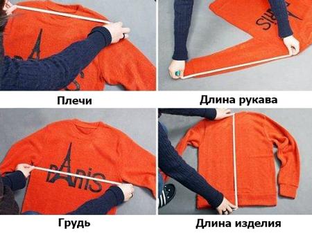Замер одежды